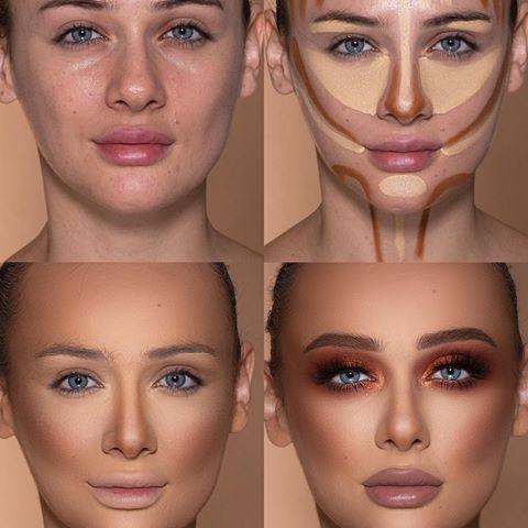 کوچک تر کردن بینی با آرایش