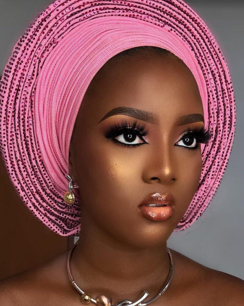 آرایش عروس با پوست تیره افریقایی