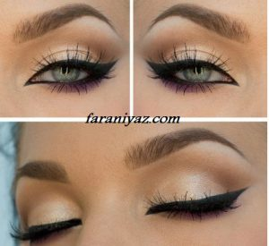 آرایش چشم به صورت مرحله ایی