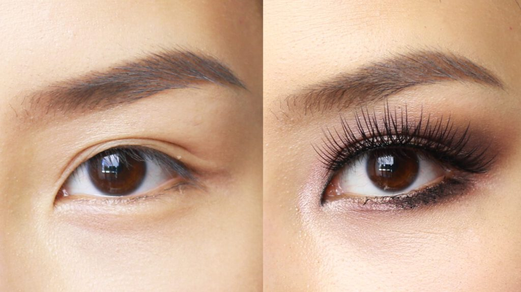 آرایش چشم ملایم با سایه چشمهای پف دار
