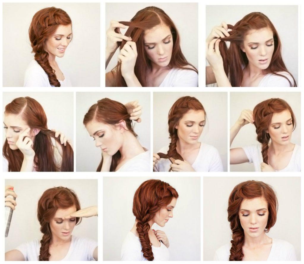 عکس آموزش تصویری یک مدل موی ساده و شیک