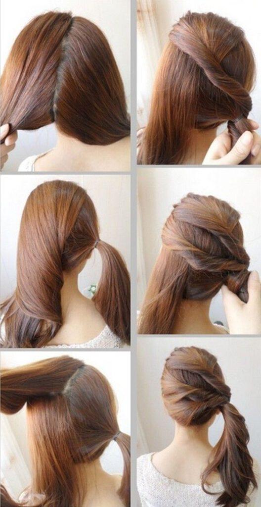 مدل موی ساده و شیک برای موهای بلند
