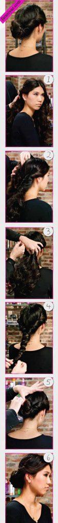 آموزش تصویری یک مدل موی ساده و شیک