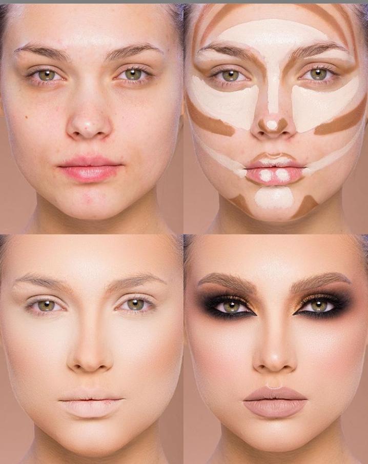 کوچک تر کردن بینی با آرایش و گریم صورت