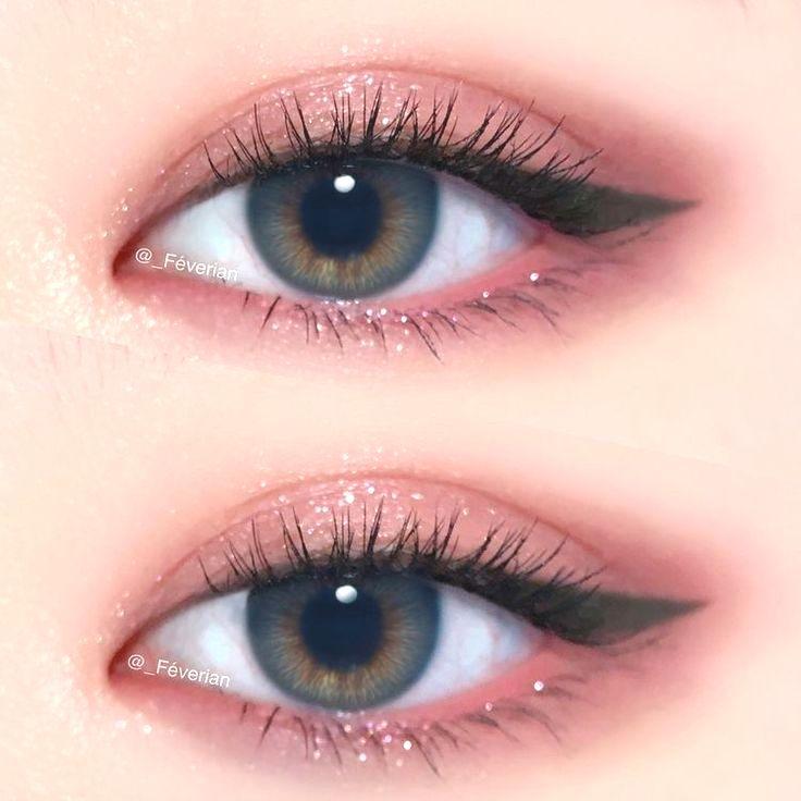 آرایش چشم ملایم صورتی