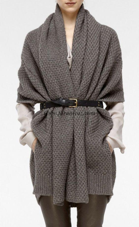 جدید ترین و زیباترین مدل مانتو و ژاکت بافتنی