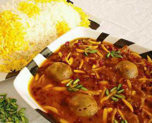 خورشت بادام و طرز تهیه ان در پورتال جامع فرانیاز فراترازنیاز هر ایرانی