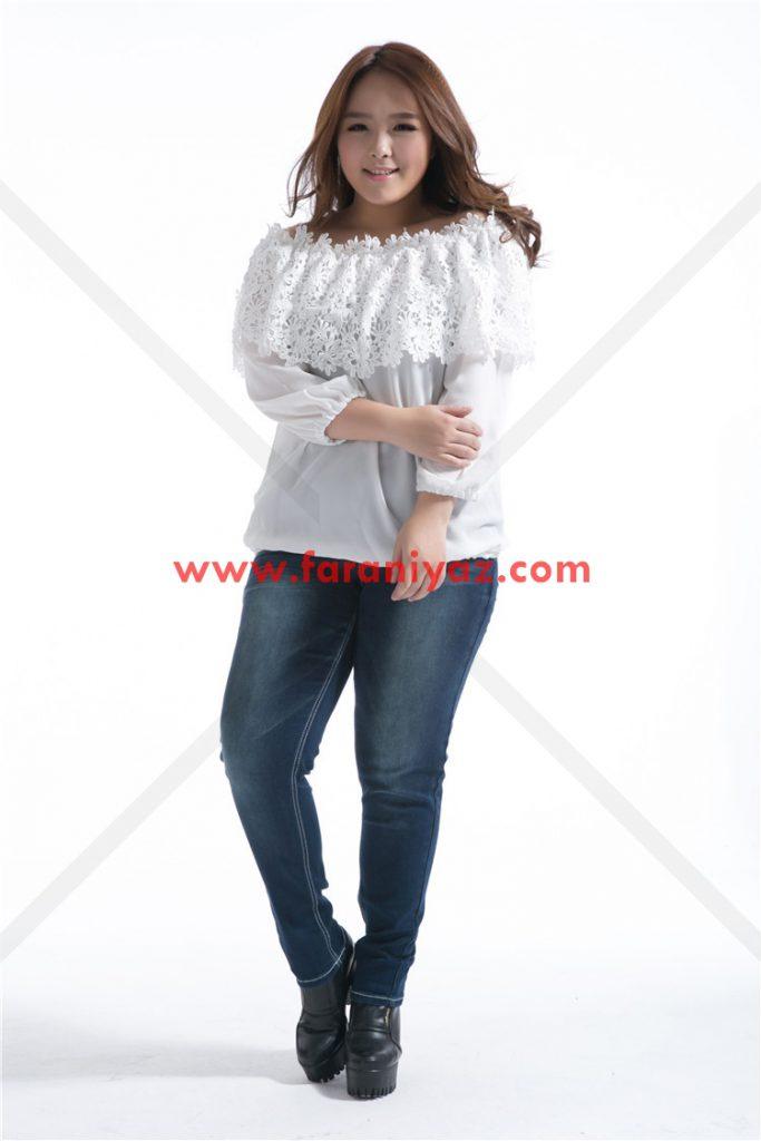 عکس شیک ترین مدل های شلوار برای خانم های چاق و تپل
