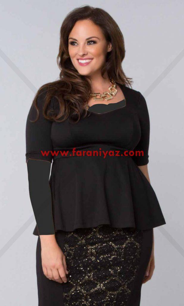 مدلهای جدید سارافون مجلسی 2016 برای خانم های چاق