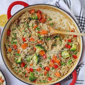 ریزوتو مرغ و سبزیجات