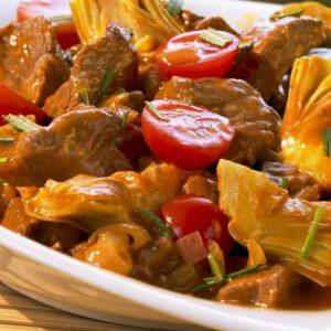 خورشت کنگر با گوشت