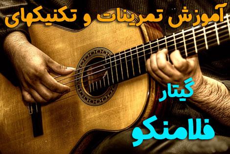 عکس آموزش گیتار فلامنکو در ۱۵ جلسه برای خانم ها و آقایان
