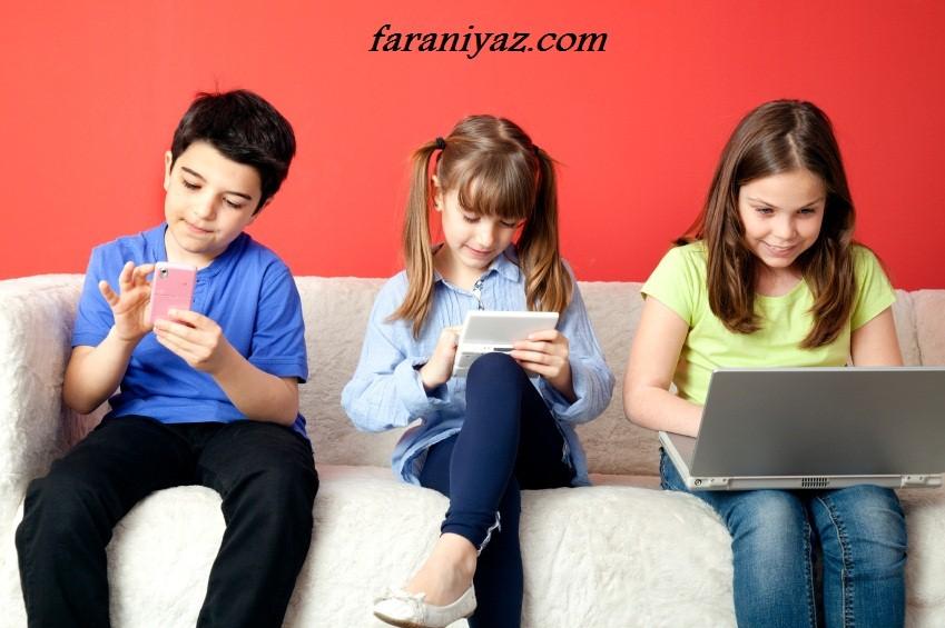 اعتیاد بچه ها به اینترنت