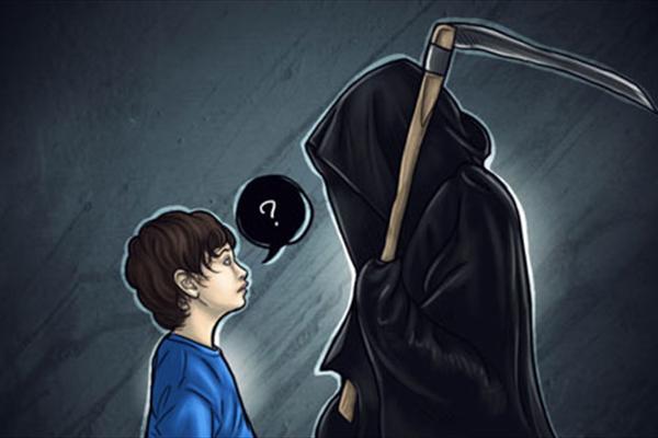 عکس کنجکاوی کودکان درباره مرگ