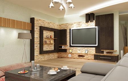 شیک ترین دکوراسیون دیوار پشت تلویزیون