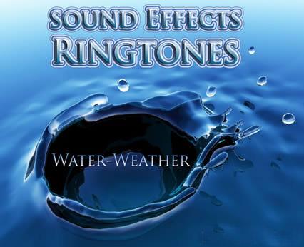 رینگتون موبایل صدای قطرات آب و آسمان با فرمت Mp3