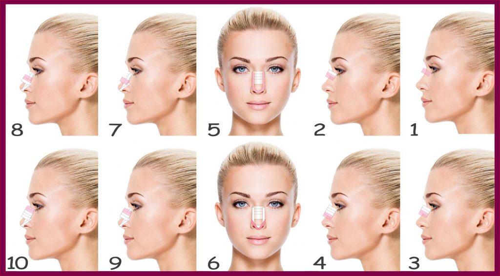 طریقه درست چسب زدن بینی بعداز جراحی