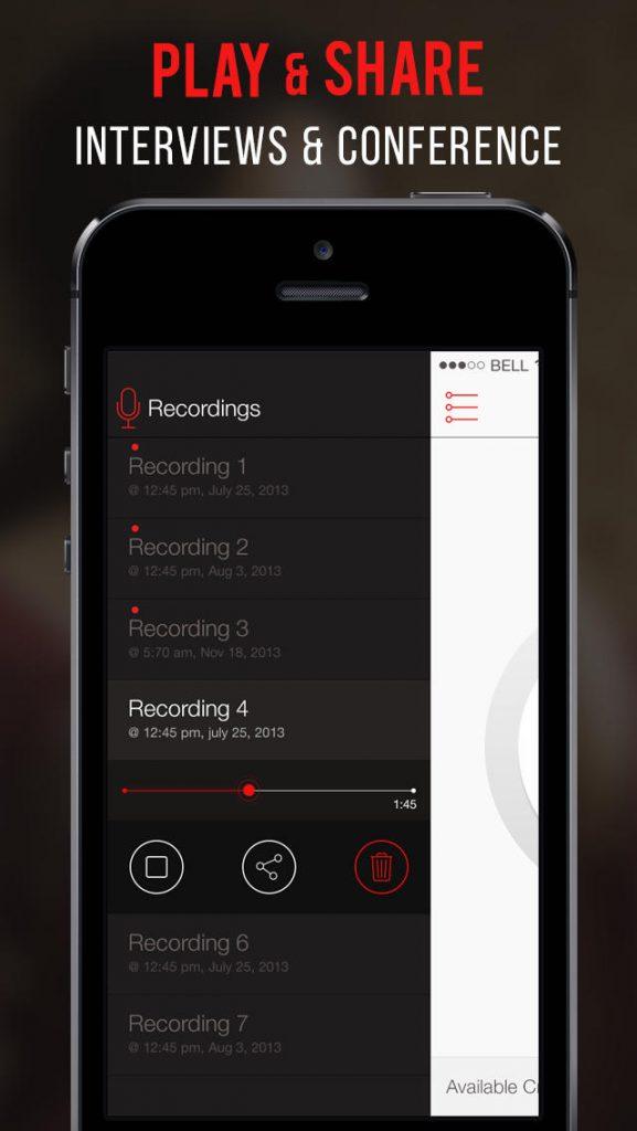 برنامه call recorder برای ios