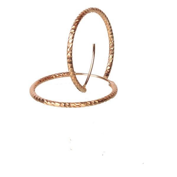 گوشواره جدید و شیک طرح طلا حلقه ایی متوسط