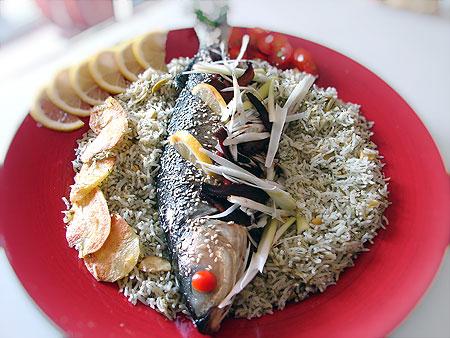 غذای شب عید نوروز -ماهی پلو