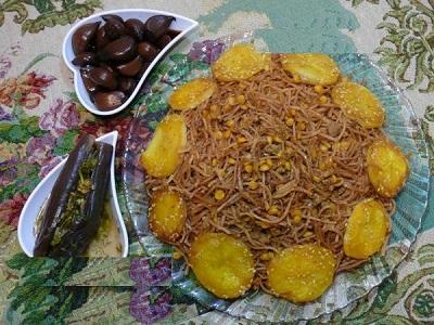 غذای شب عید نوروز -رشته پلو