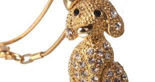 گردنبند طرح حیوان (سگ) رنگ طلایی