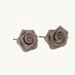 گوشواره میخی جدید طرح گل رز نقره ایی