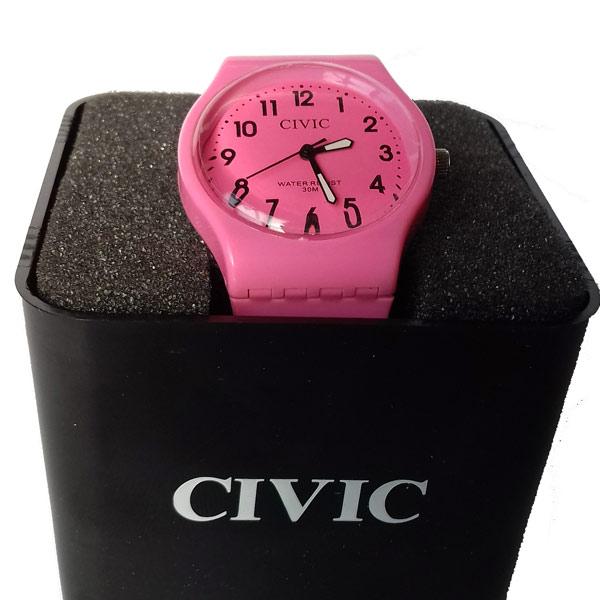 عکس ساعت مچی طرح کلاسیک SIVIC رنگ صورتی ضد آب