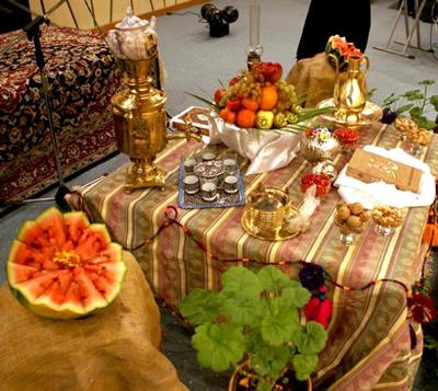 عکس آداب و رسوم مردم خراسان جنوبی در شب یلدا