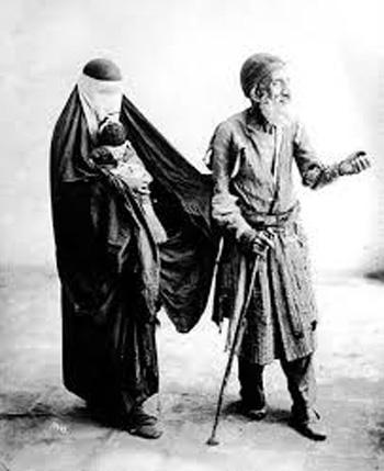 عکس گدایی در ایران باستان ننگ بود