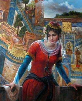 آهو نور زن هنرمند ایرانی با توضیح در پورتال جامع فرانیاز فراتر از نیاز هر ایرانی