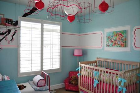 عکس اتاق نوزاد پسر به رنگ صورتی، مگر می شود؟