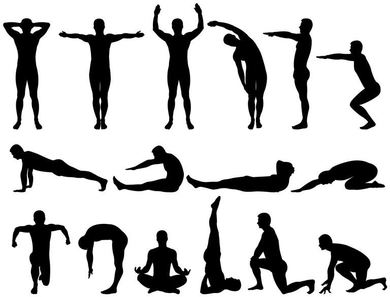 عکس حرکات کششی ورزشی