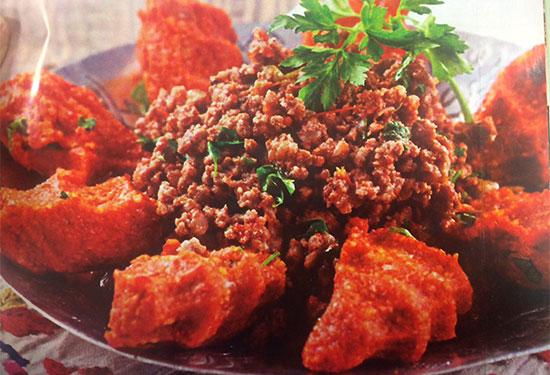 عکس طرز تهیه کباب عربی با کوفته سیب زمینی
