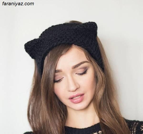 زیبا ترین مدلهای تل سر بافتنی دخترانه + عکس