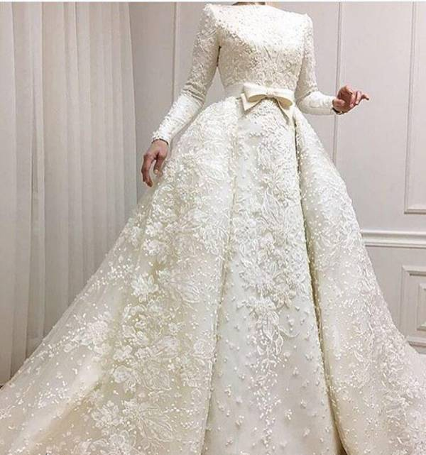 عکس شیک ترین لباس عروسهای محجبه + عکس