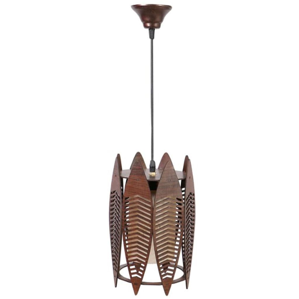 لوستر چوبی مدل برگ