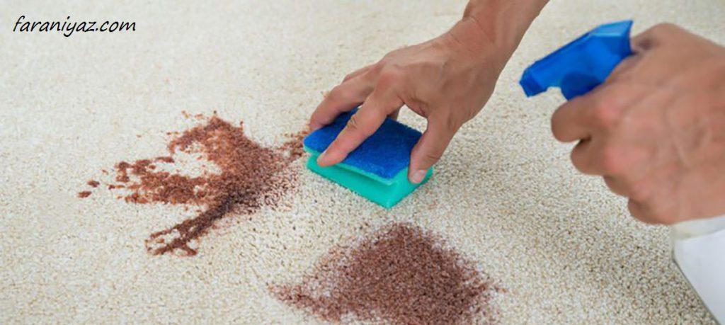 پاک کردن لکه از روی فرش نانو