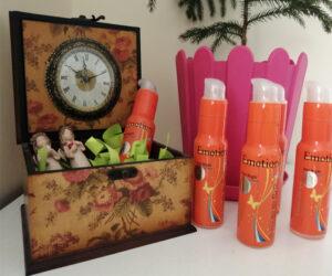 ژل ایموشن نارنجی داخل جعبه